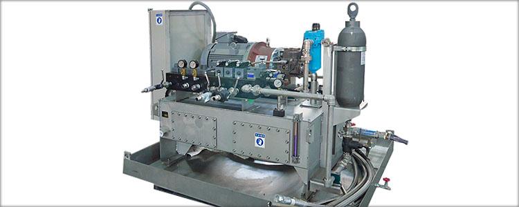 スカイドロール用油圧源による受託試験