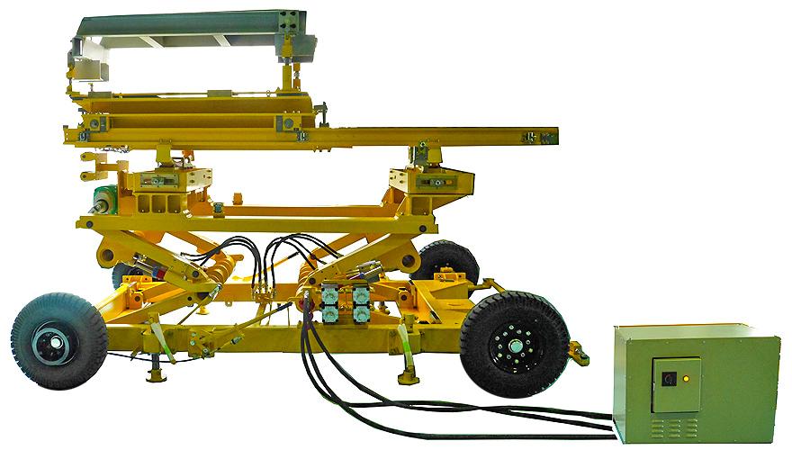 航空機用エンジン搭載トレーラ